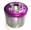 鋁合金切銷兩件式散熱頭(紫色)