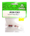 AXIAL AXA1361 鋁合金延伸柱(紅色7X15mm)