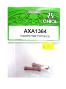 AXIAL AXA1364 鋁合金延伸柱(紅色7X30mm)