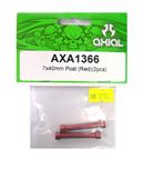 AXIAL AXA1366 鋁合金延伸柱(紅色7X40mm)