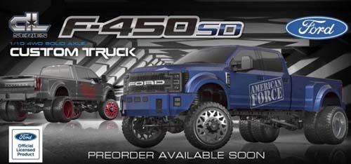 CEN FORD F450 1/10 四驅電動像真改裝卡車(有刷RTR版)藍色