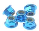 4MM 鋁合金帶邊防鬆螺帽(淺藍色)