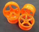MST 五爪甩尾輪框(螢光橘色 OFFSET=+5mm)