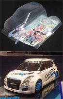 TAMIYA 51545 GO PRO MONSTER SUPER SPORT SWIFT 1/10 MINI 電動房車殼