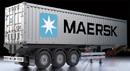 TAMIYA 56326 40-英呎 可分離式貨櫃尾車(MAERSK塗裝)